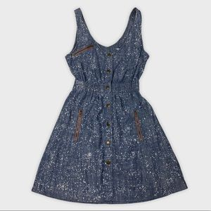 UO Kimchi Blue Open Back Denim Dress Size S